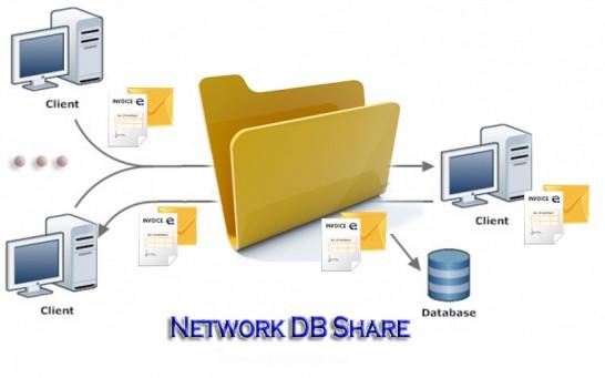 Prisijungimas prie duomenų bazės - share network